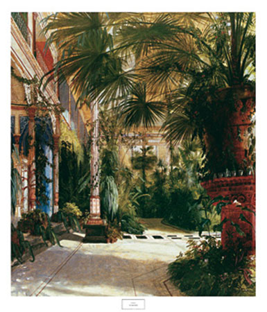The Palm House Kunstdruck Blechen Karl