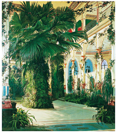 Interior of a Palm House Kunstdruck Blechen Karl