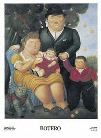Una Famiglia, 1989 Kunstdruck Botero Fernando