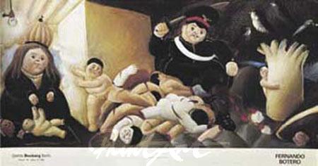 Massacre de los innocentes Det.4 Kunstdruck Botero Fernando