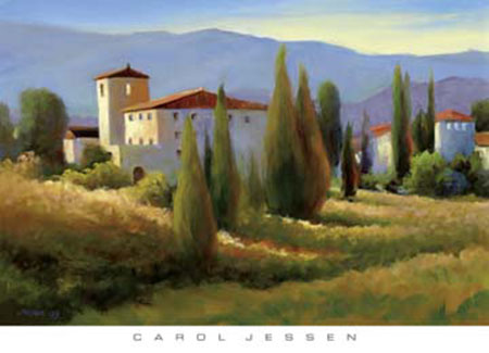 Blue Shadow in Tuscany I Kunstdruck Jessen Carol