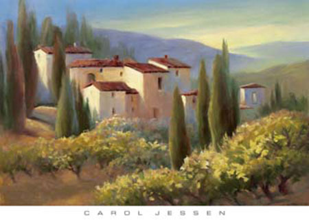 Blue Shadow in Tuscany II Kunstdruck Jessen Carol