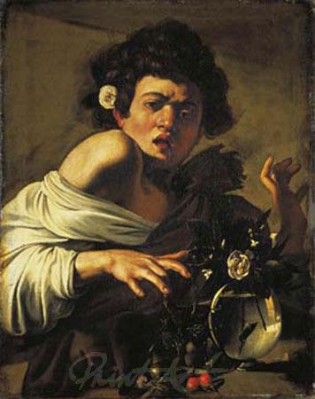 Ragazzo che morso da un ramarro Kunstdruck Caravaggio