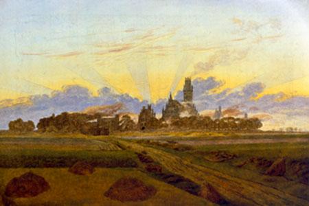Das brennende Neubrandenburg Friedrich Caspar David