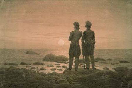 Zwei Männer am Strand Friedrich Caspar David