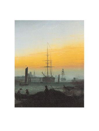 Der Greifswalder Hafen Kunstdruck Friedrich Caspar David