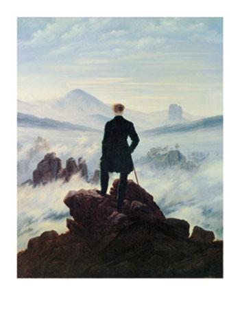 Der Wanderer im Nebelmeer Kunstdruck Friedrich Caspar David