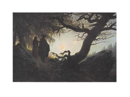 Mann und Frau in Betrachtung Kunstdruck Friedrich Caspar David