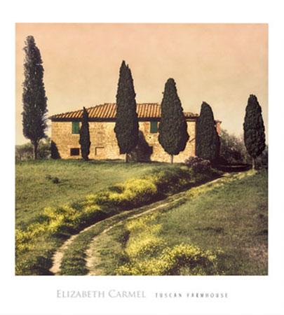 Tuscan Farmhouse Kunstdruck Carmel Elisabeth