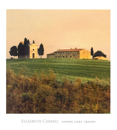 Evening Light, Tuscany Kunstdruck Carmel Elisabeth