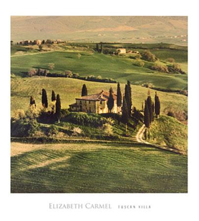 Tuscan Villa Kunstdruck Carmel Elisabeth