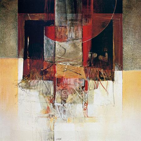 Luna rossa Kunstdruck mit Folienprägung Censini Giuliano