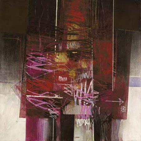 Riflessi rosa Kunstdruck mit Folienprägung Censini Giuliano