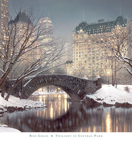 Twighlight in Central Park Kunstdruck Chase Rod