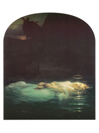 The Young Martyr, 1855 Kunstdruck Delaroche Hippolyte Paul