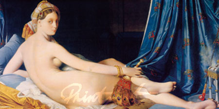 Grande Odalisca Kunstdruck Ingres Dominique