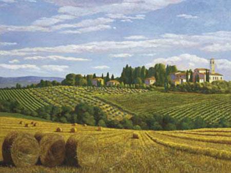Campo in Toscana Kunstdruck Del Missier Andrea