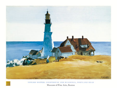Lighthouse and Buildings Kunstdruck Hopper Edward