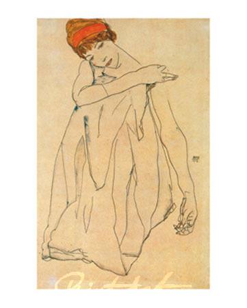 Die Tänzerin Kunstdruck Schiele Egon