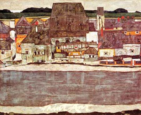 Häuser am Fluss II Schiele Egon