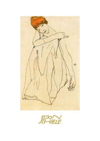 Die Tänzerin Kunstdruck mit Folienprägung Schiele Egon