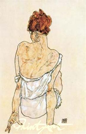 Sitzende Frau Schiele Egon