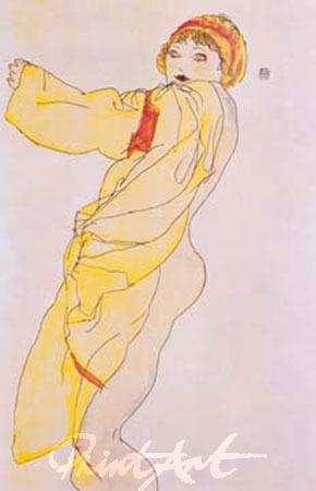 Frau mit Kleid Schiele Egon