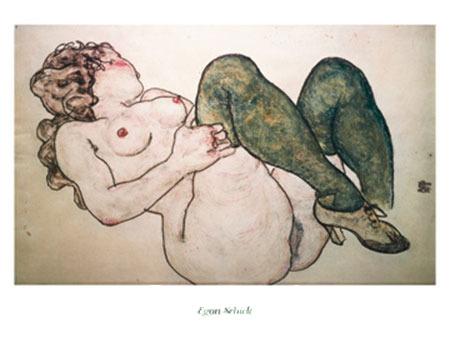 Nudo femminile Kunstdruck Schiele Egon