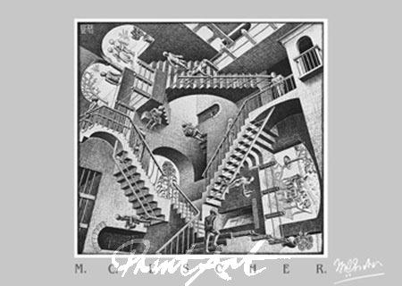 Relativität Kunstdruck Escher M.C.
