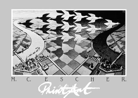 Tag und Nacht Kunstdruck Escher M.C.