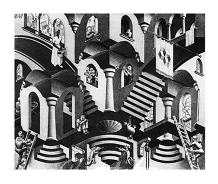 Konkav und Konvexe Kunstdruck Escher M.C.