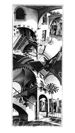 Oben und Unten Kunstdruck Escher M.C.