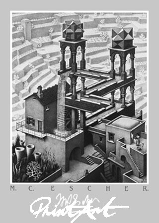 Wasserfall Kunstdruck Escher M.C.