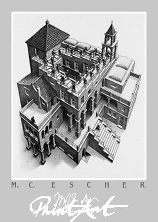 Treppauf und Treppab Kunstdruck Escher M.C.