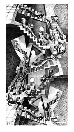 Treppenhaus Kunstdruck Escher M.C.