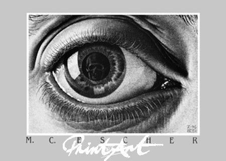 Auge Kunstdruck Escher M.C.