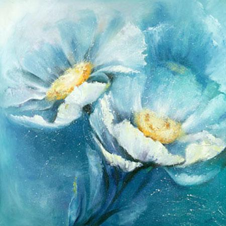 Symphonie in Blau Kunstdruck Filatov Elena