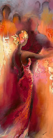 Tanzabend I Kunstdruck Filatov Elena