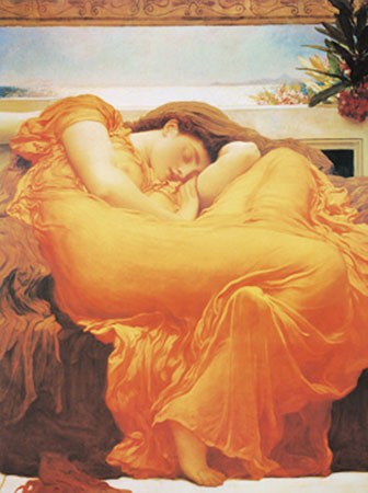 Flaming June Kunstdruck Yoga