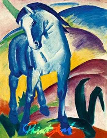Blaues Pferd I Kunstdruck Marc Franz
