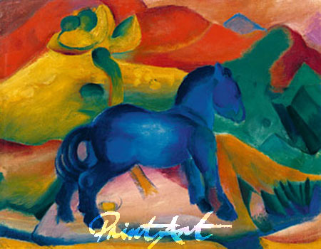 Blaues Pferdchen Kunstdruck Marc Franz