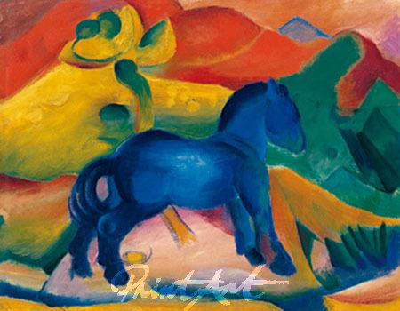 Blaues Pferdchen Marc Franz
