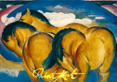 Die kleinen gelben Pferde Kunstdruck Marc Franz