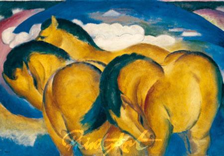 Die kleinen gelben Pferde Marc Franz