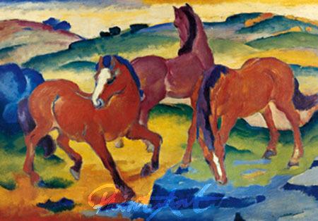 Die roten Pferde Marc Franz