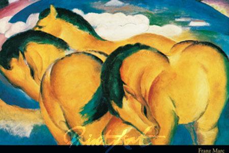 Little yellow Horses Kunstdruck Marc Franz