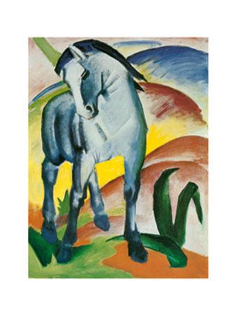 Blaues Pferd I - Monaco Kunstdruck Marc Franz
