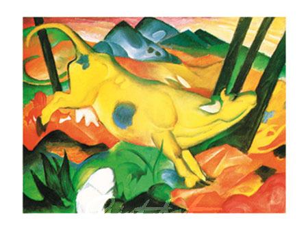 Gelbe Kuh Kunstdruck Marc Franz
