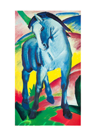 Cavallo Blu Kunstdruck Marc Franz