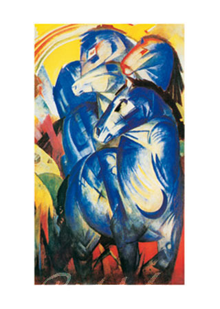 Torri dei Cavalli Kunstdruck Marc Franz